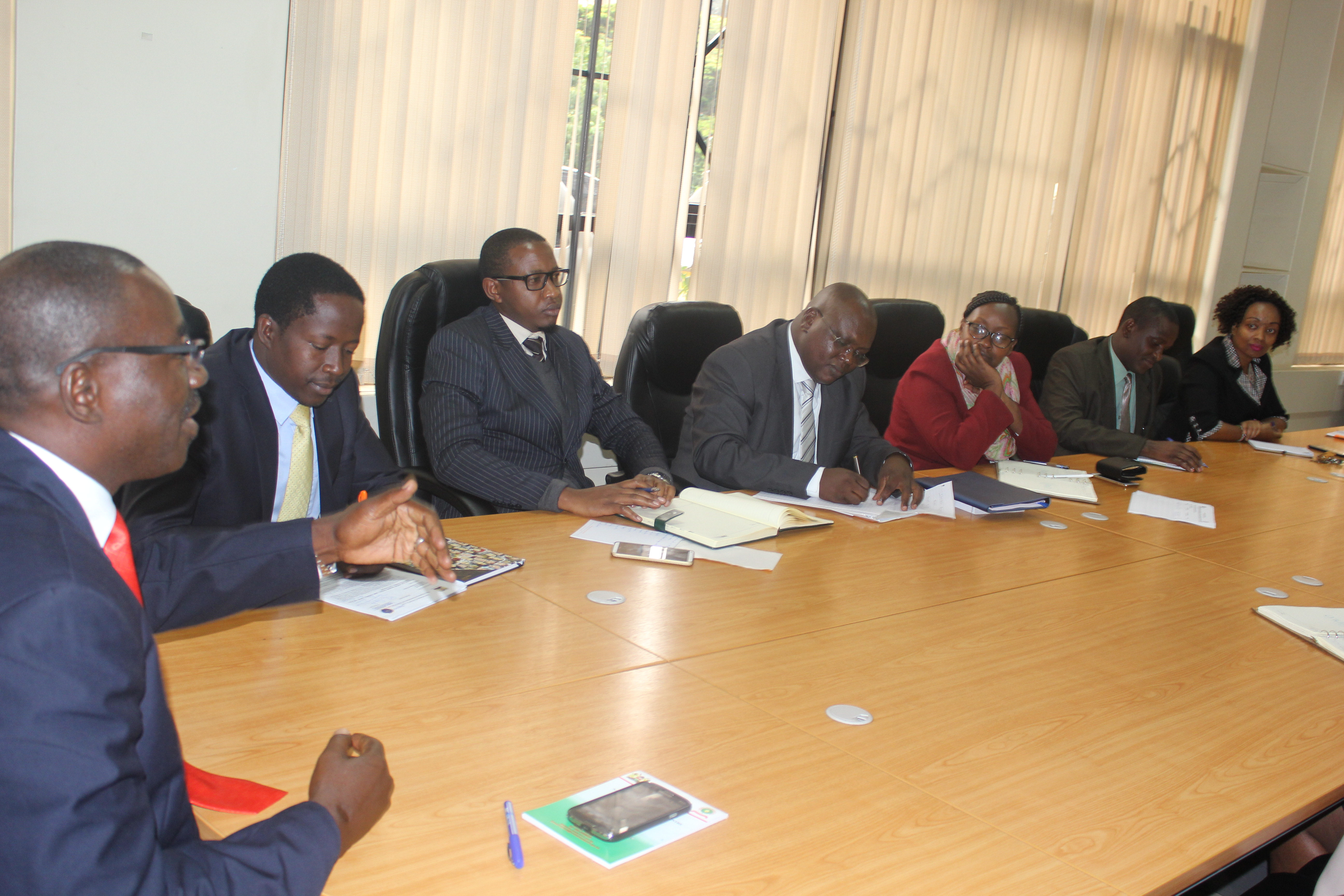 NCCJR members in a meeting with members of NCRC