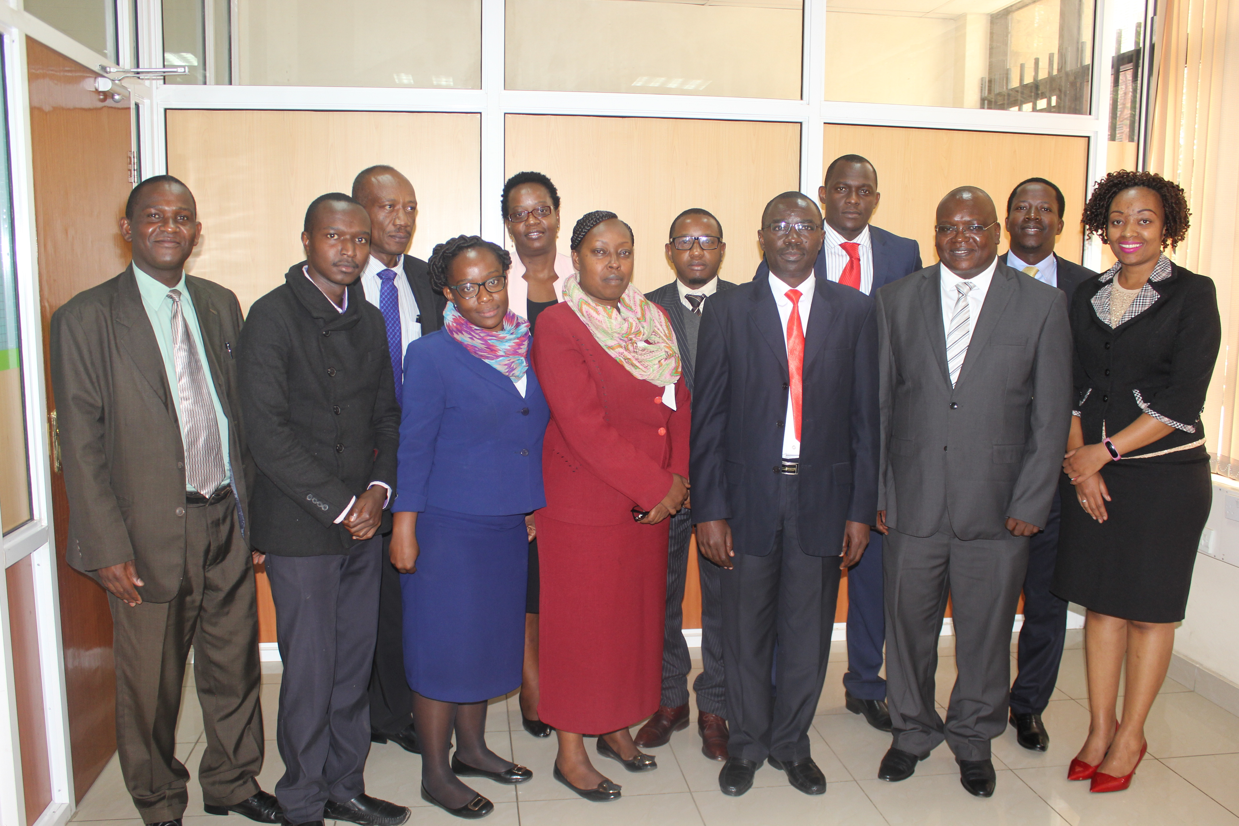Members of NCCJR in a group photo with officials from the NCRC after their meeting