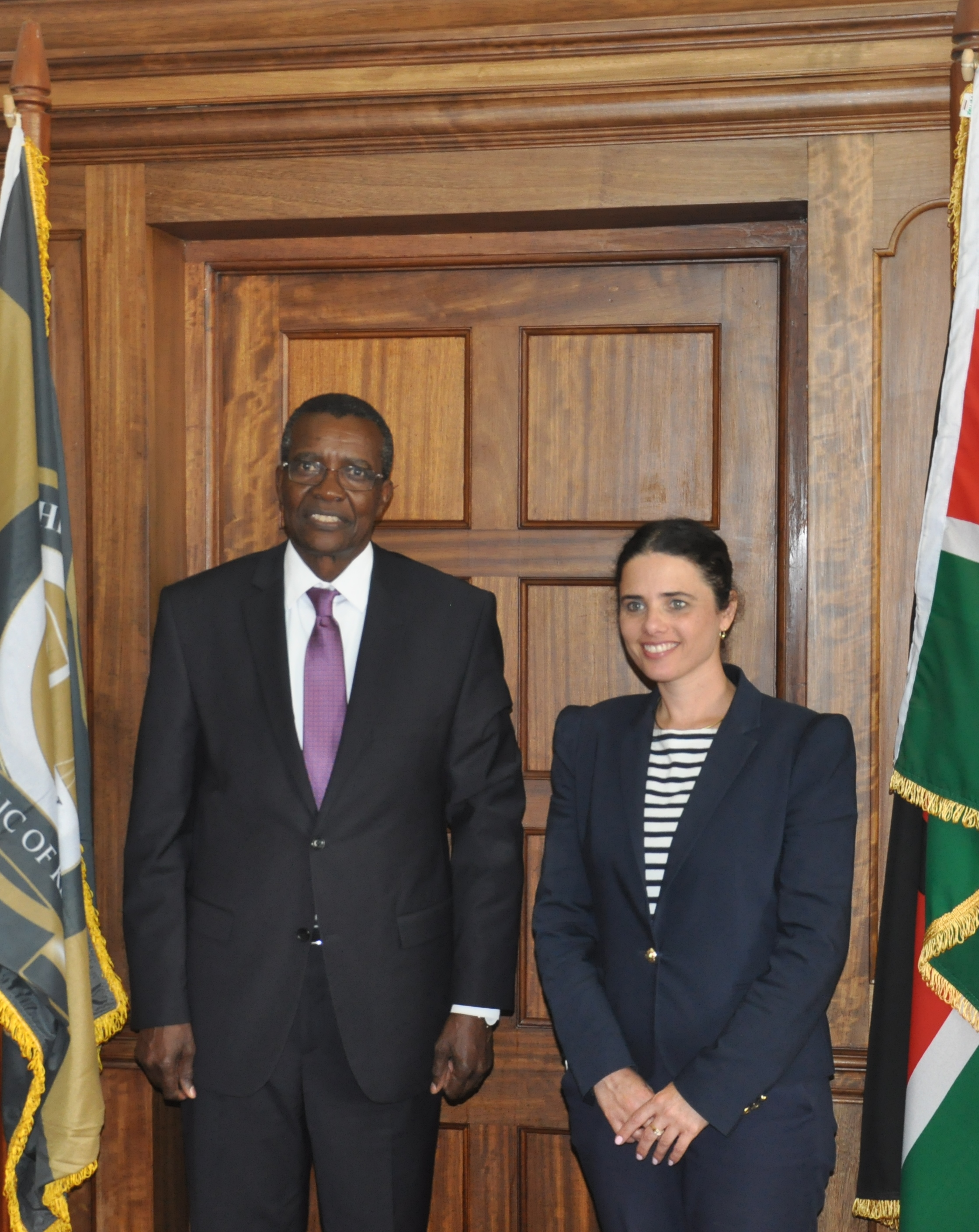 The Judiciary Kenya    @Kenyajudiciary  4s4 seconds ago More CJ David Maraga with member of Knesset Israel Parliament and Minister of Justice of the State of Israel Ayelet Shaked when she paid courtesy call on the CJ at Supreme Court toda