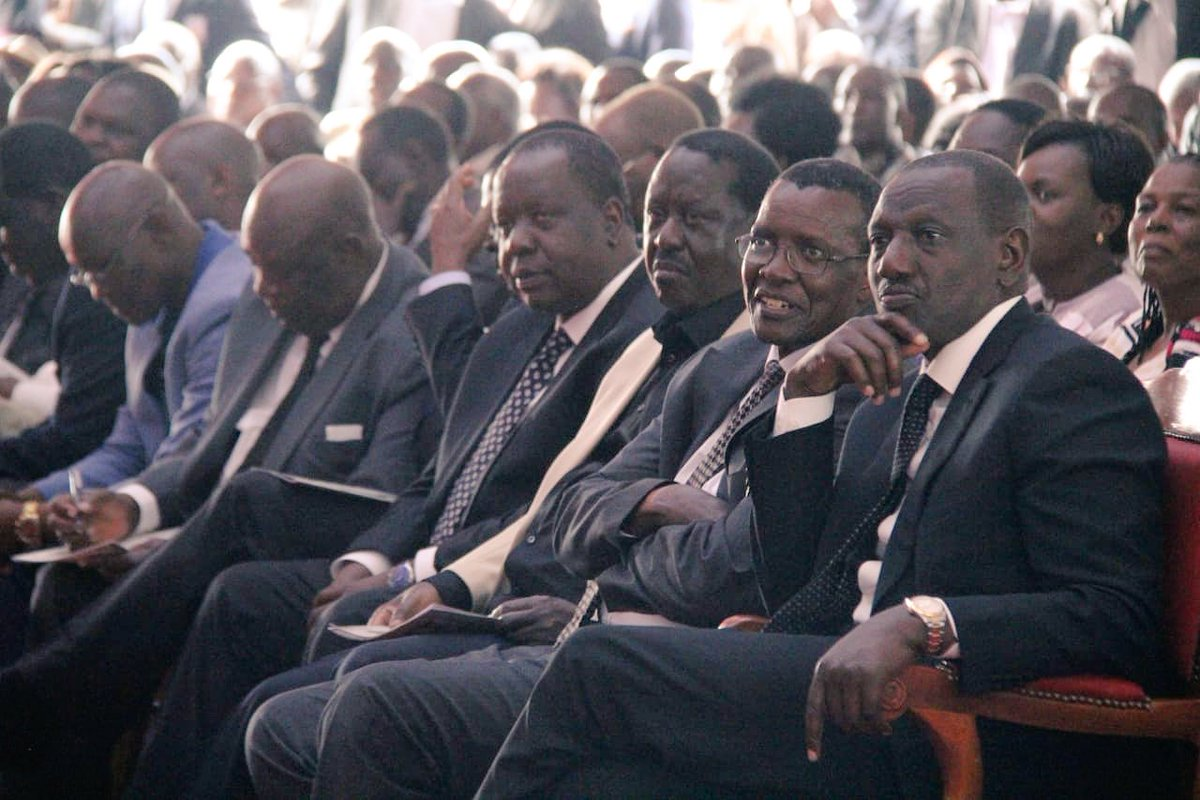 CJ Maraga joined family and friends of the late Obwocha's funeral
