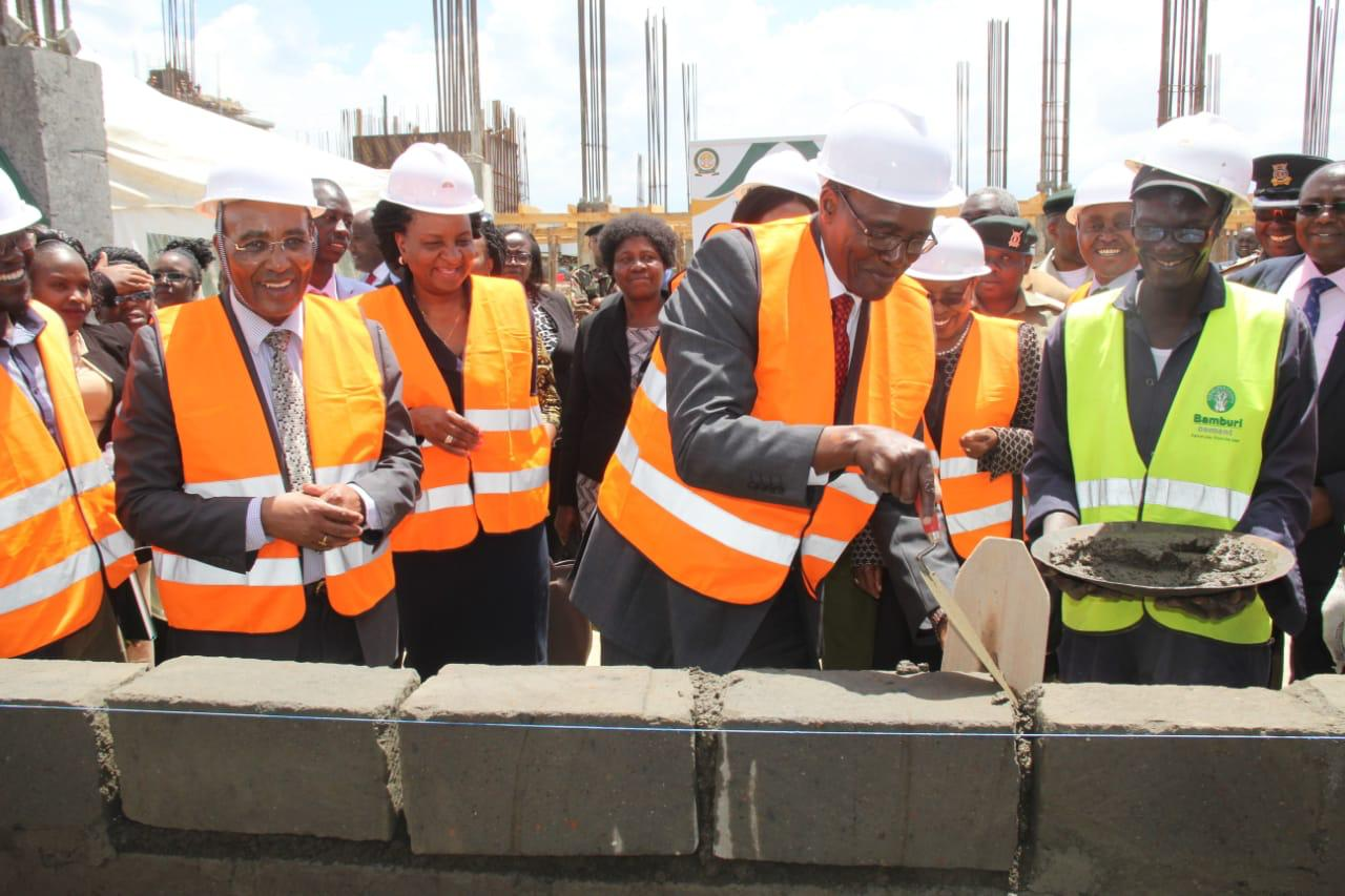 CJ lays foundation stone for new court at  Ol Kalou, pledges efficiency in delivery of justice