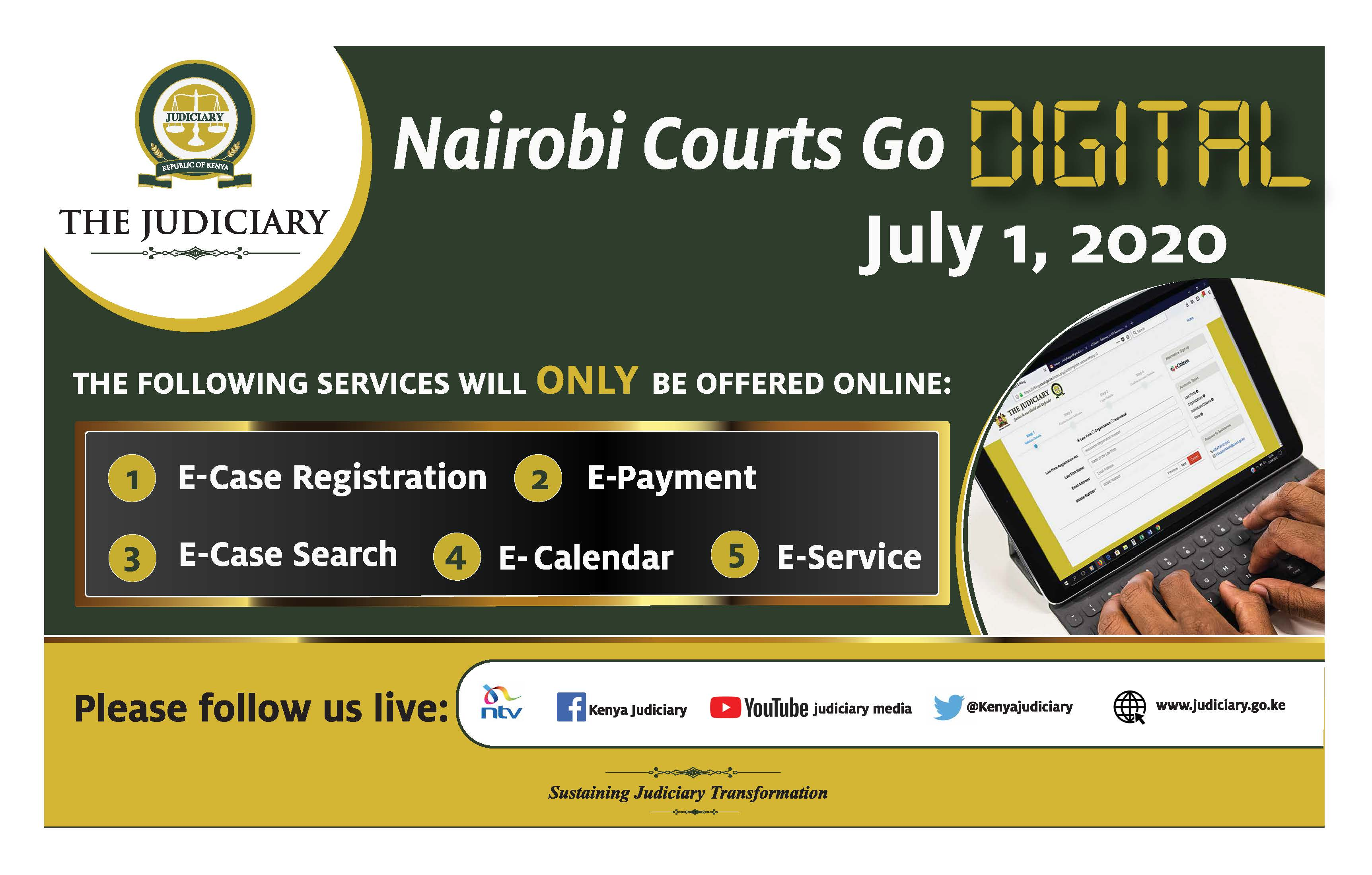 Launch of E-Filing System for Courts in Nairobi