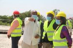 Chief Registrar inspects construction of Court at Homa Bay