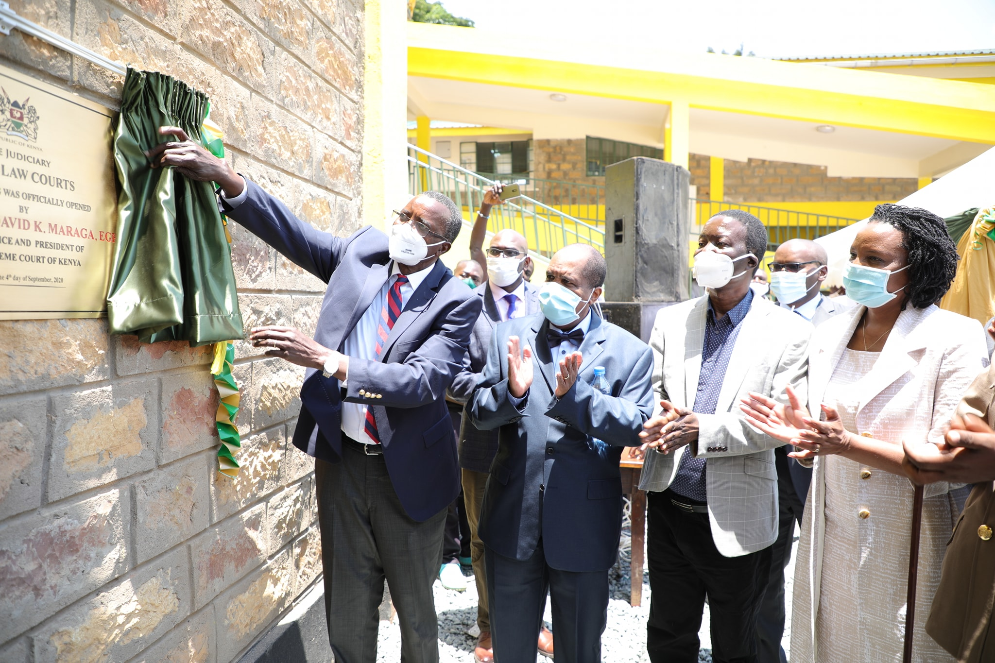 CJ opens new Oyugis Law Courts building