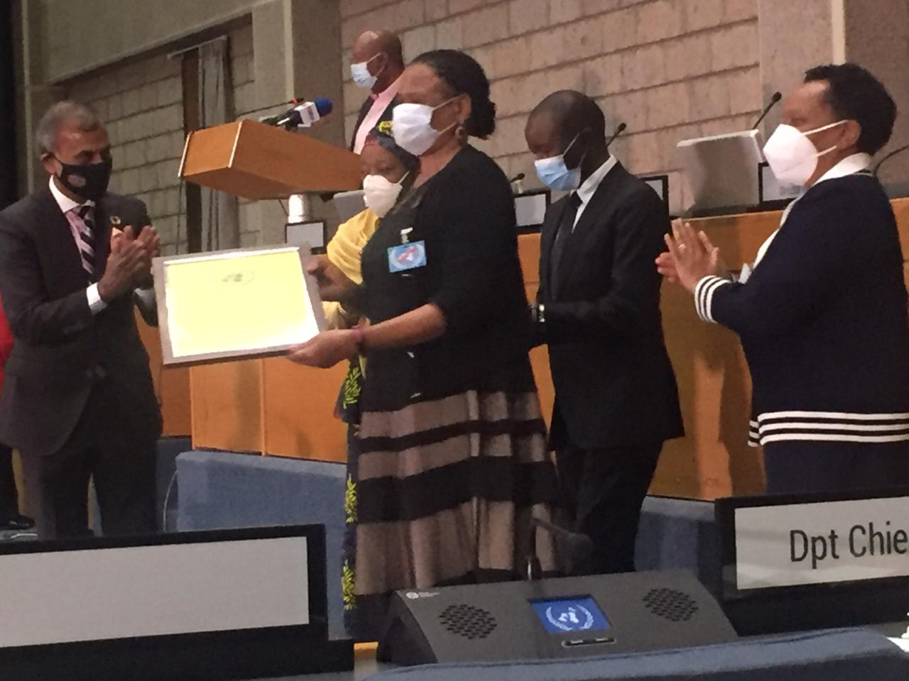 Justice Martha Koome receives UN Award