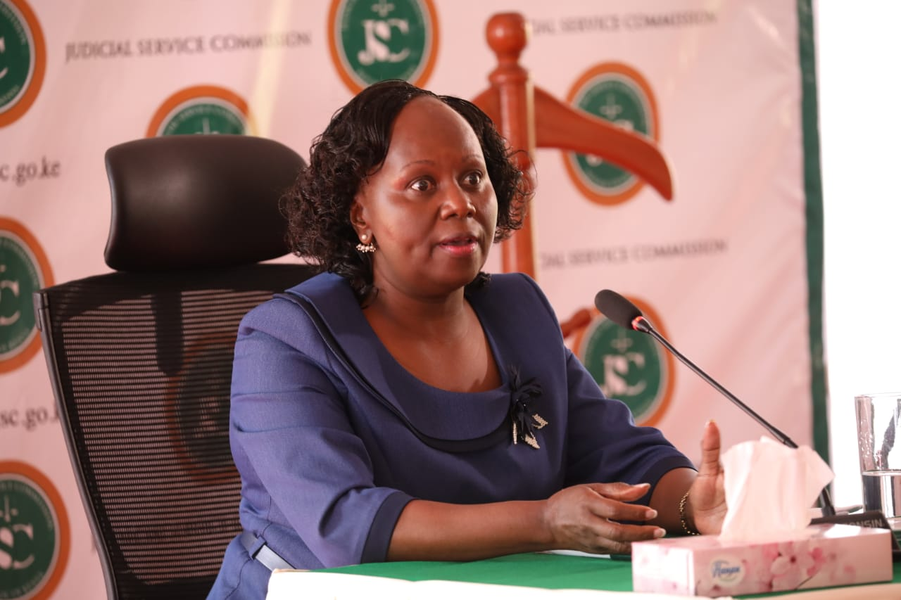 Prof. Patricia Kameri-Mbote appears before the JSC for an interview for the position of Chief Justice